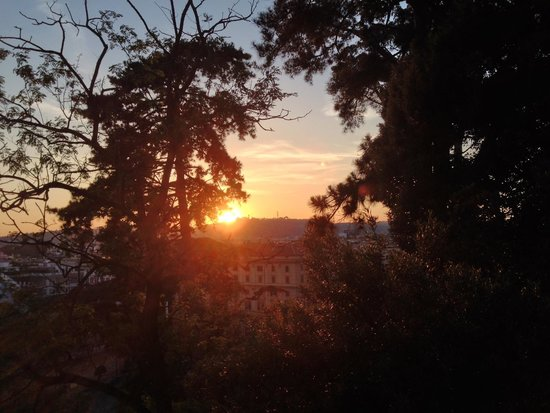 Villa Borghèse : sunset view