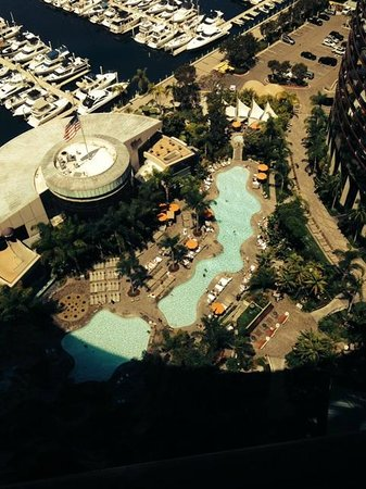 Marriott Marquis San Diego Marina: View of Pools from Room