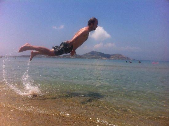 Pension Irene II: Lekkere duik op t strand