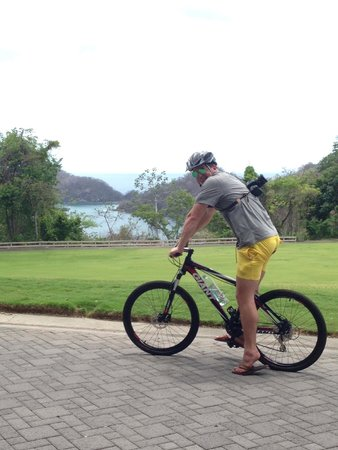 Four Seasons Resort Costa Rica at Peninsula Papagayo: Biking the property at the resort