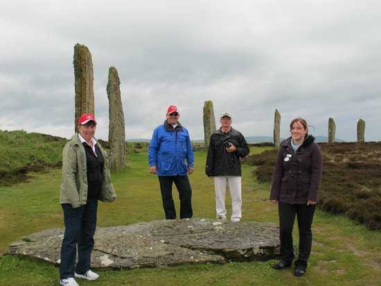 Peedie Orkney Day Tours: Ring of Brogdar, Diane on the right