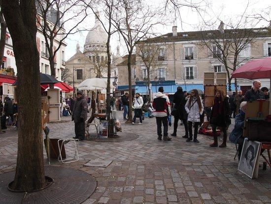 Montmartre: plaza de los artistas