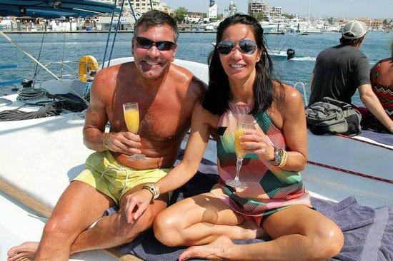 Cabo Adventures: mimosas served while motoring out of the marina