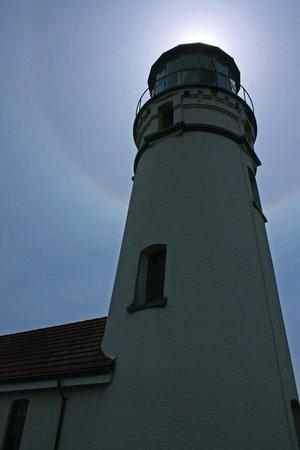 Cape Blanco Lighthouse: Sun halo over the lantern room