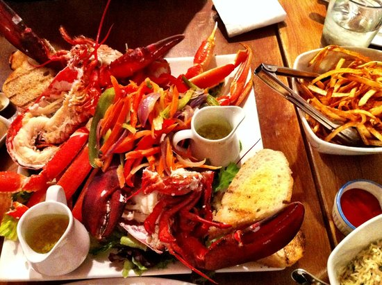 The Lobster Pound And Moore: custom platter