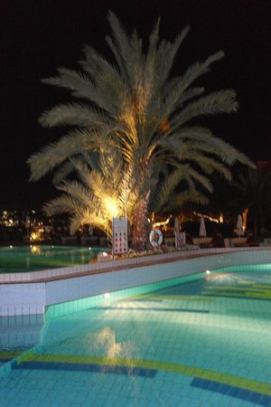 Constantinou Bros Athena Royal Beach Hotel: Evening view of the pool