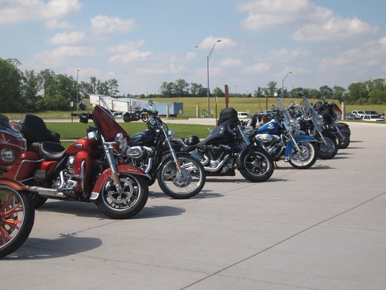 Employee Bikes Parked Out Front - Picture of Harley Davidson Factory