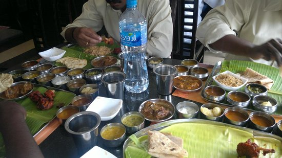 Anjappar: While Dining Lunch Chicken Meals