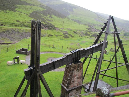 Museum of Lead Mining: top of beam engine