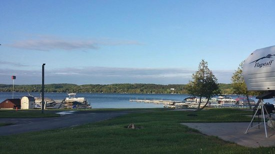 Lake Leelanau R.V. Park: View of the lake from site 44