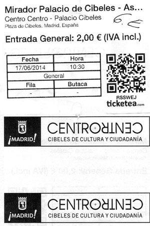CentroCentro Cibeles: билеты