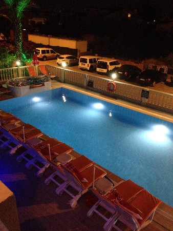 Ozturk Apartments: Pool at night
