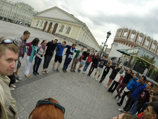 Moscow Free Tour : Group hug