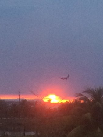 Element Miami International Airport: Sunset from room