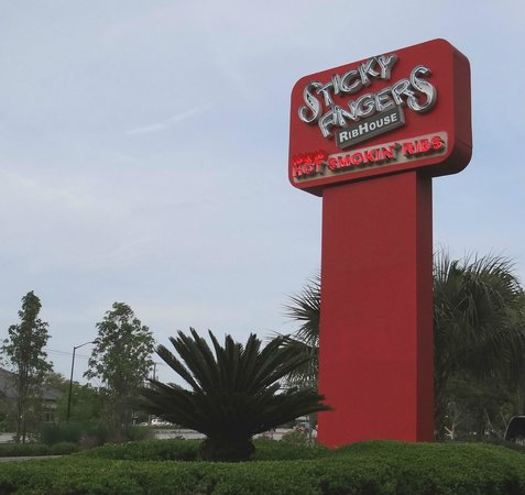 Sticky Fingers : Exterior sign