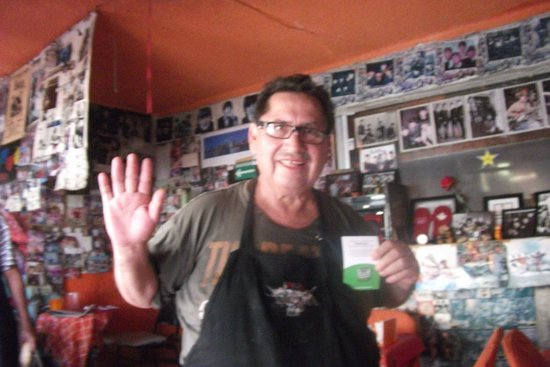 Gordo Lele's Tacos & Tortas: He receives a Trip Advisor pin of Excellence! (gracias)