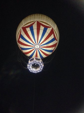 Lower Gardens: The balloon at night