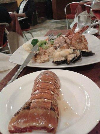 The Royal Playa del Carmen : Cena en el Pelicano Langosta