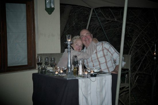 Savanna Private Game Reserve: candlelight dinner
