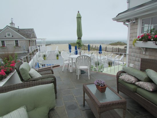 Inn On The Beach: Patio and View