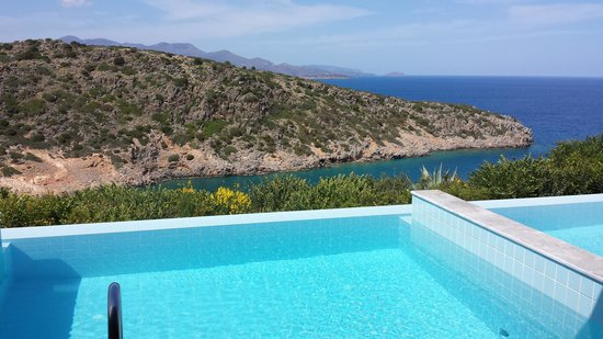 Daios Cove Luxury Resort & Villas : view from 641