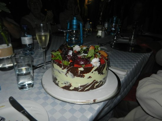 Karongwe River Lodge: My beautiful birthday cake