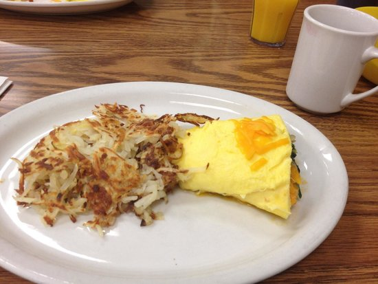 Don's Diner: Half a veggie omelet. Toast comes with. Best omelet ever!!!