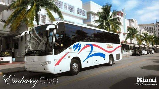 Miami Tour Company : Our tour bus in South Beach.