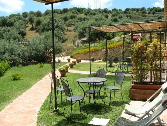 Poggio Pozzetti: outside dining area