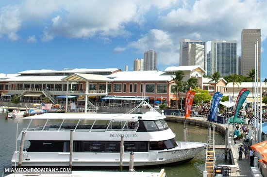 Miami Tour Company : Our tour boat at Bayside Marketplace