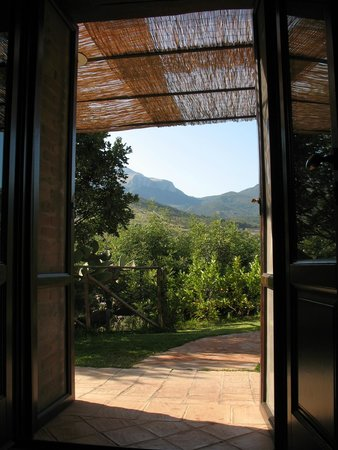 Poggio Pozzetti: Looking out of the front door