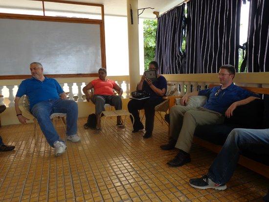 Trinity Lodge: Upstairs lounge for meetings
