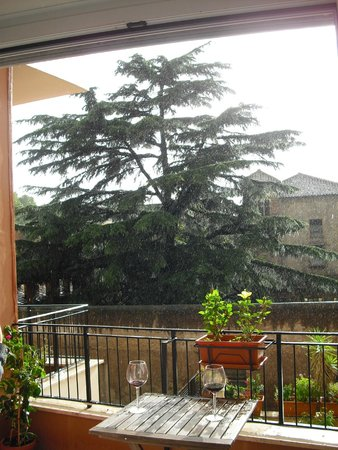 B&B Zen Trastevere: Relaxing with a glass of red wine