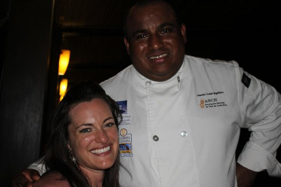 Flamingo Beach Resort & Spa: Leonardo, the chef that we met and talked with!