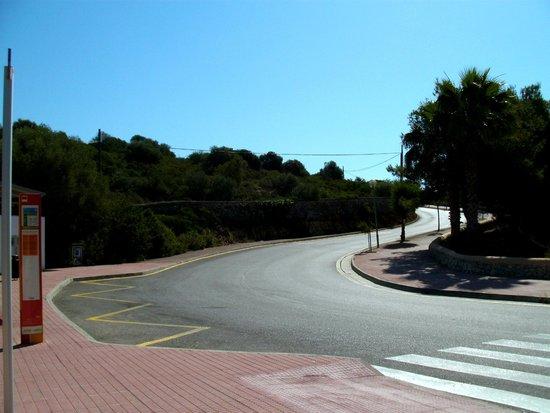 Cala Marsal: Bushaltestelle