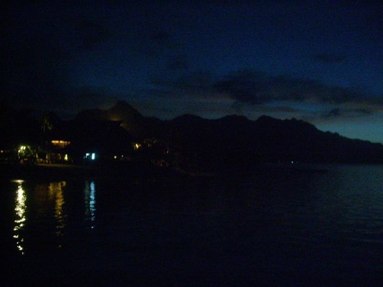 Hilton Moorea Lagoon Resort & Spa in the night