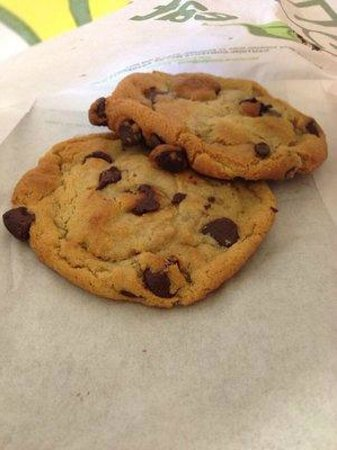 chocolate chip cookies picture of subway tucson tripadvisor. Black Bedroom Furniture Sets. Home Design Ideas