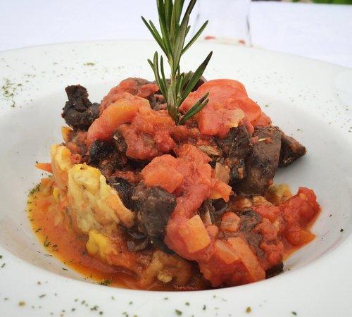 Neyzade Restaurant: Mushroom and eggplant dish