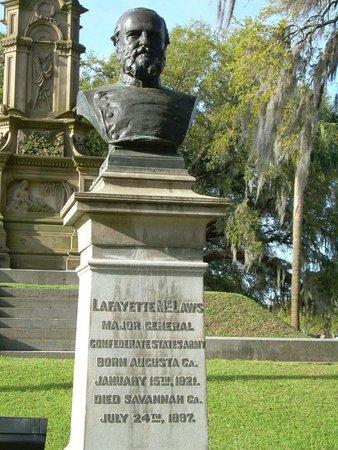 Parc Forsyth : Maj. General Lafayette McLaws
