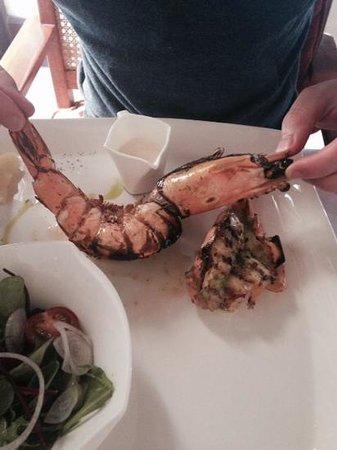 Al Maha, A Luxury Collection Desert Resort & Spa: MASSIVE prawns!!!!!