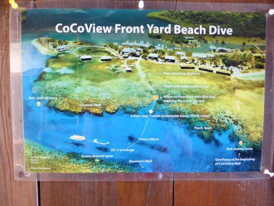 CoCo View Resort: Map of CoCo View Front Yard Walll Dive