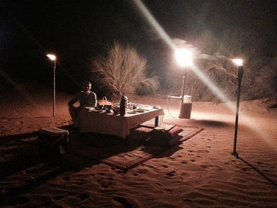 Al Maha, A Luxury Collection Desert Resort & Spa: Private Desert Dinner