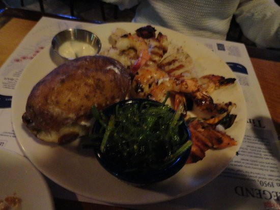 Legal Sea Foods: Fresh fish with seaweed and baked potato
