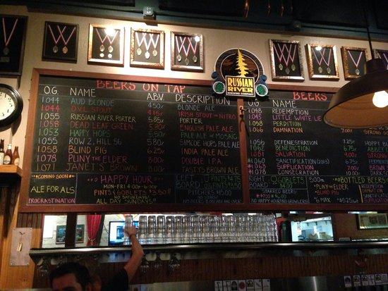 Russian River Brewing Company : Brew List