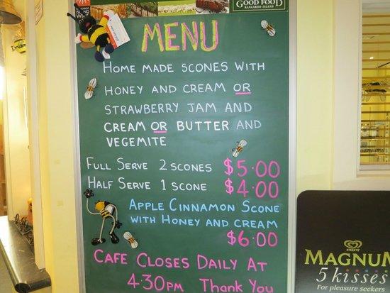 Island Beehive Cafe Menu