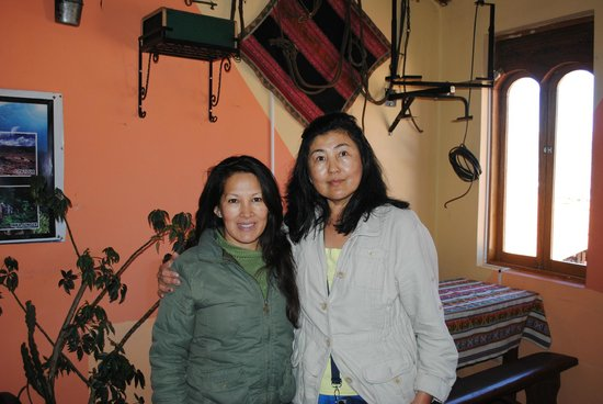 Hostal Arrieros: its me with the owner of the hostel
