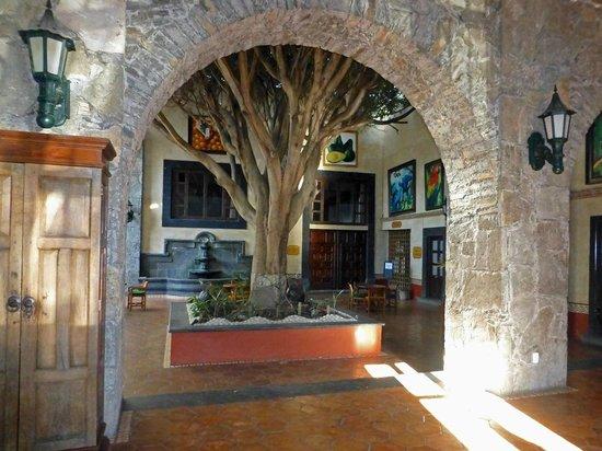 Mision San Gil: Blick in den Innenhof von der Lobby aus
