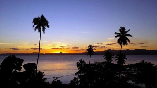 Daku Resort: view over savusavu bay