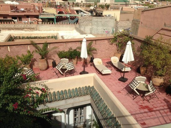 Sun terrace at Riad Altair