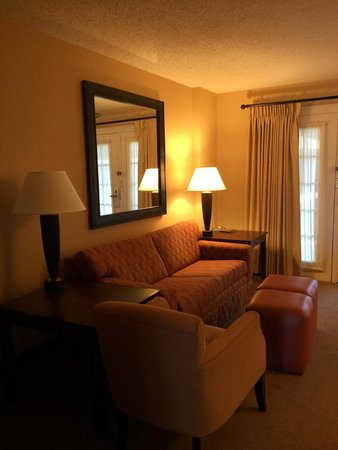 "Embassy Suites by Hilton Indianapolis - North: ""Living Room"" attached to the bedroom"